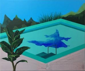 A safe zone, nowhere, 53 x 45.5cm, Acrylic on canvas, 2019